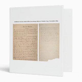 Gettysburg Address Nicolay Copy (1863) Vinyl Binders