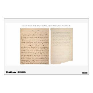 Gettysburg Address Nicolay Copy (1863) Room Sticker