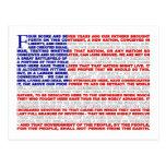Gettysburg Address Post Card