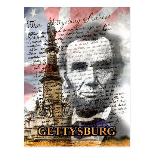 Gettysburg Address Postcard