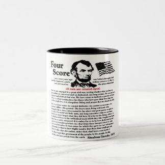 Gettysburg Address Two-Tone Coffee Mug