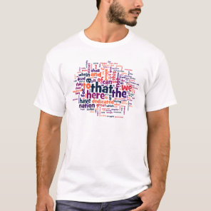 Gettysburg Address Word Cloud T-Shirt