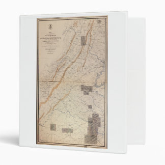 Gettysburg and Appomattox Court House Map (1869) Binder