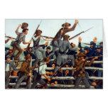 Gettysburg, batalla en la tarjeta de nota del ladr
