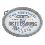 Gettysburg Battle 150 Anniversary Oval Belt Buckles
