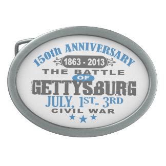 Gettysburg Battle 150 Anniversary Oval Belt Buckle