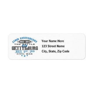 Gettysburg Battle 150 Anniversary Label