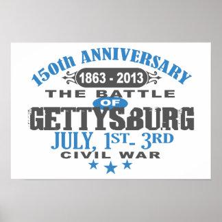 Gettysburg Battle 150 Anniversary Poster