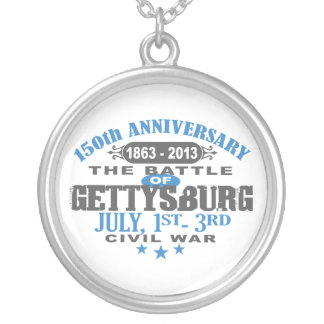 Gettysburg Battle 150 Anniversary Silver Plated Necklace
