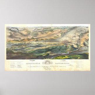 Gettysburg Battlefield 1863 Print