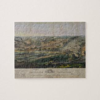 Gettysburg Battlefield by John Bachelder 1863 Jigsaw Puzzle