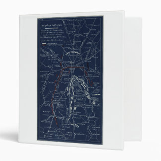Gettysburg Battlefield Civil War Map (1863) Binder