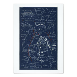 Gettysburg Battlefield Civil War Map (1863) Card