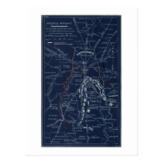 Gettysburg Battlefield Civil War Map (1863) Postcard