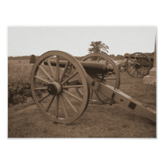 Gettysburg Cannon Painting Poster