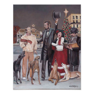 Gettysburg Christmas II Greyhound Dog Art Print