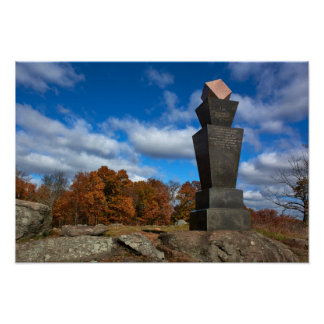 Gettysburg College - Fall Leaves Poster