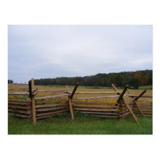 gettysburg en campo de batalla de la caída tarjetas postales