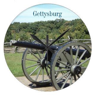 Gettysburg Large Round Wall Clock