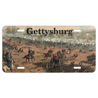Gettysburg License plate