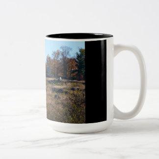 Gettysburg National Park - Big Round Top Two-Tone Coffee Mug