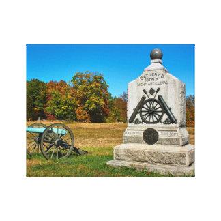 Gettysburg National Park - Fall - Cannon Canvas Print