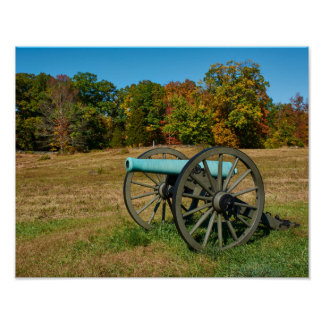 Gettysburg National Park - Fall - Cannon Poster