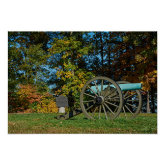 Gettysburg National Park Fall Cannon Poster