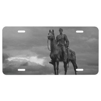 Gettysburg National Park - Meade Memorial - BW License Plate