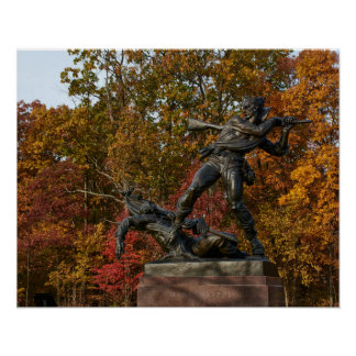 Gettysburg National Park - Mississippi Memorial Poster