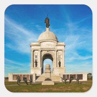 Gettysburg National Park - Pennsylvania Memorial Square Sticker