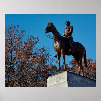 Gettysburg National Park - Robert E Lee - Fall Poster