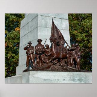 Gettysburg National Park Virginia Memorial Poster