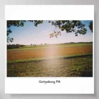 "Gettysburg PA ""Ghost"" Poster"