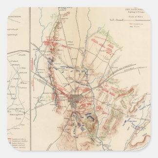 Gettysburg Pegatina Cuadrada