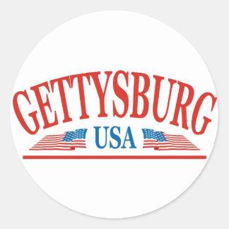Gettysburg Pennsylvania USA Classic Round Sticker
