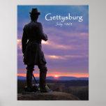Gettysburg - pequeño top redondo poster