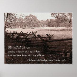 Gettysburg - poster #2 del campo de batalla