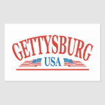 Gettysburg Rectangle Stickers