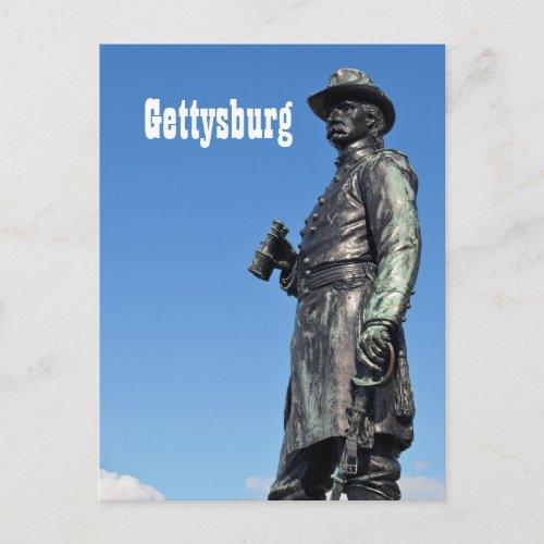 Gettysburg Statue III Postcard postcard