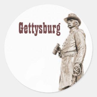 Gettysburg Statue III Sepia Sketch Sticker