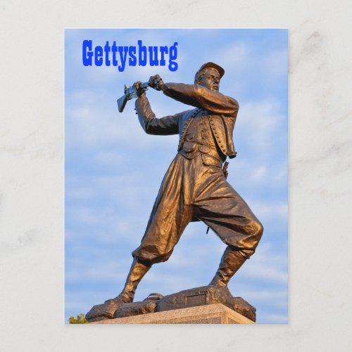 Gettysburg Statue IV Postcard postcard