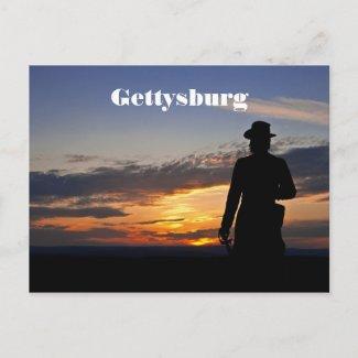 Gettysburg Sunset Postcard postcard