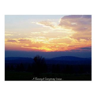 Gettysburg Sunset Postcard