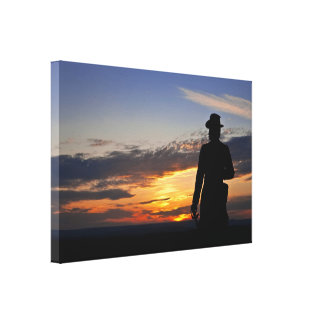 Gettysburg Sunset Wrapped Canvas