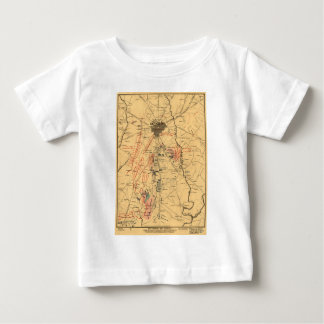 Gettysburg & Vicinity Troop Positions July 3 1863 Baby T-Shirt