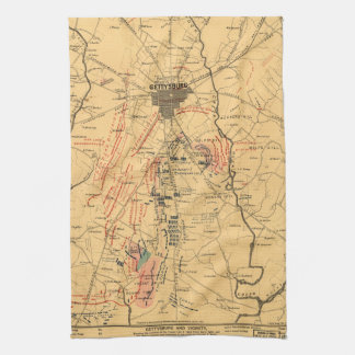 Gettysburg & Vicinity Troop Positions July 3 1863 Kitchen Towels