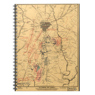 Gettysburg & Vicinity Troop Positions July 3 1863 Notebooks