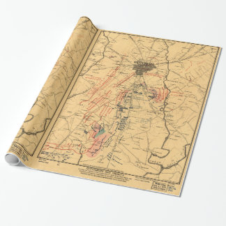 Gettysburg & Vicinity Troop Positions July 3 1863 Wrapping Paper