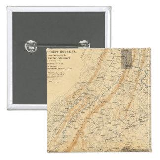 Gettysburg, Virginia Pin Cuadrado